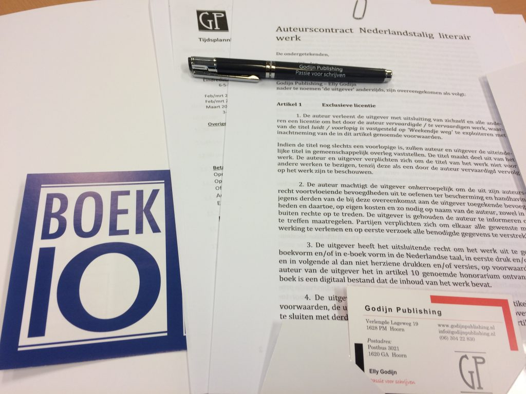 Contract Weekendje Weg Boek 10