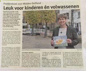 krantenartikel Schakel Midden-Delfland: Prentenboek over Midden-Delfland
