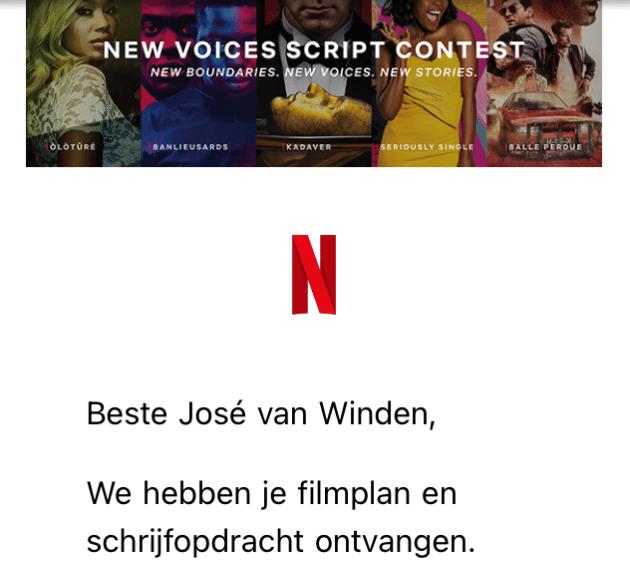 Filmplan en Schrijfopdracht Netflix
